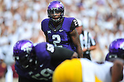 FORT WORTH, TX - SEPTEMBER 13:  Trevone Boykin #2 of the TCU Horned Frogs reads the defense against the Minnesota Golden Gophers on September 13, 2014 at Amon G. Carter Stadium in Fort Worth, Texas.  (Photo by Cooper Neill/Getty Images) *** Local Caption *** Trevone Boykin