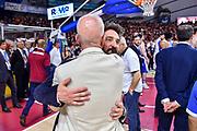 Gianmarco Pozzecco, Guido Bagatta<br /> Umana Reyer Venezia - Banco di Sardegna Dinamo Sassari<br /> Legabasket LBA Serie A Postemobile 2018-2019 Finale Playoff Gara 7<br /> Sassari, 22/06/2019<br /> Foto L.Canu - Ciamillo-Castoria