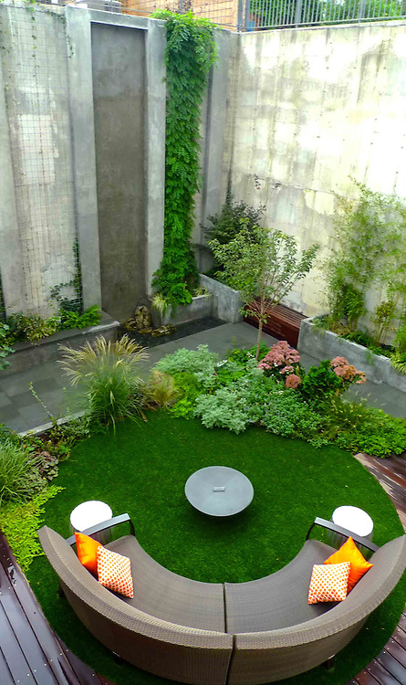 Modern garden brooklyn outside space nyc for Landscape design new york