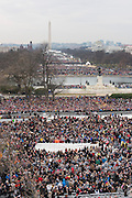 Hundreds of thousands gather to watch the Inauguration of President Donald Trump on the National Mall January 20, 2017 in Washington, DC. Trump became the 45th President surrounded by his wife Melania, and his five children in the Capitol Hill ceremony