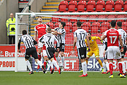 Michael Smith back header during the EFL Sky Bet League 1 match between Rotherham United and Rochdale at the AESSEAL New York Stadium, Rotherham, England on 10 March 2018. Picture by Daniel Youngs.