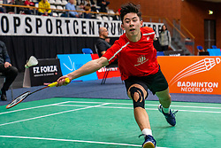 Sebastiaan Li during the Dutch Championships Badminton on February 1, 2020 in Topsporthal Almere, Netherlands