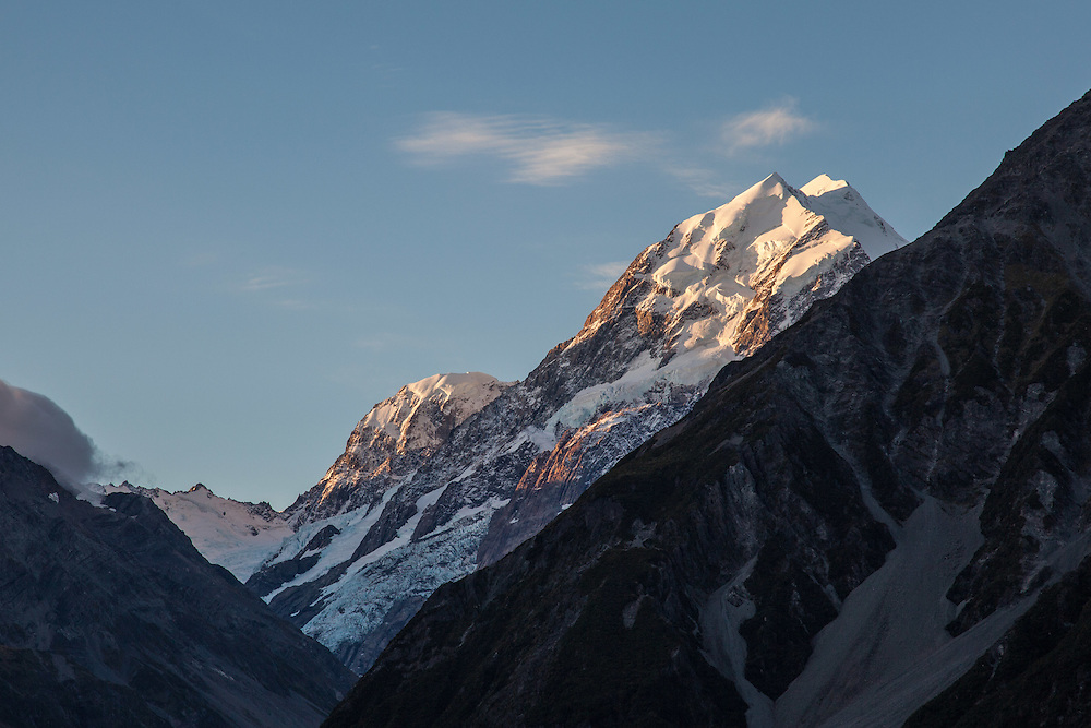 Mount Cook in the afternoon sun