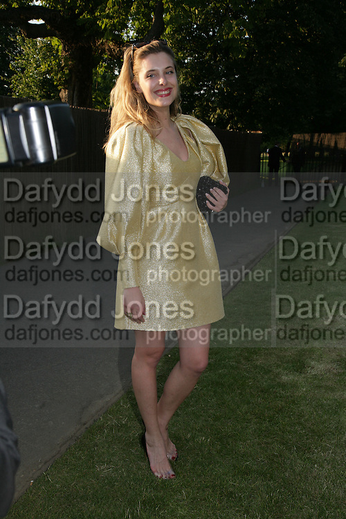 `SARA BRAJOVIC, The Summer Party in association with Swarovski. Co-Chairs: Zaha Hadid and Dennis Hopper, Serpentine Gallery. London. 11 July 2007. <br />