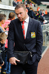 Man Utd Forward Wayne Rooney (ENG) arrives at the stadium before the start of the match - Photo mandatory by-line: Rogan Thomson/JMP - Tel: Mobile: 07966 386802 17/08/2013 - SPORT - FOOTBALL - Liberty Stadium, Swansea -  Swansea City V Manchester United - Barclays Premier League - First round of the 2013/14 season and the first league match for new Man Utd manager David Moyes.