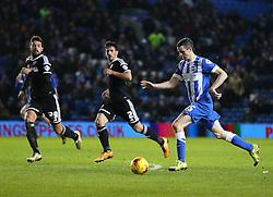 Jamie Murphy of Brighton and Hove Albion scores to make it 3-0 - Mandatory byline: Paul Terry/JMP - 05/02/2016 - FOOTBALL - Falmer Stadium - Brighton, England - Brighton v Brentford - Sky Bet Championship