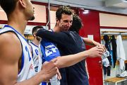 Gianmarco Pozzecco, Giacomo Devecchi<br /> AX Armani Exchange Olimpia Milano - Banco di Sardegna Dinamo Sassari<br /> LBA Serie A Postemobile 2018-2019 Playoff Semifinale Gara 2<br /> Milano, 31/05/2019<br /> Foto L.Canu / Ciamillo-Castoria