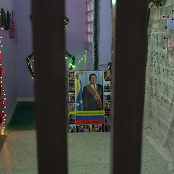 Pictured is a tribute to Venezuelan President Hugo Chavez.