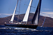 Sojana sailing in the Caribbean Superyacht Regatta and Rendezvous, race 1.