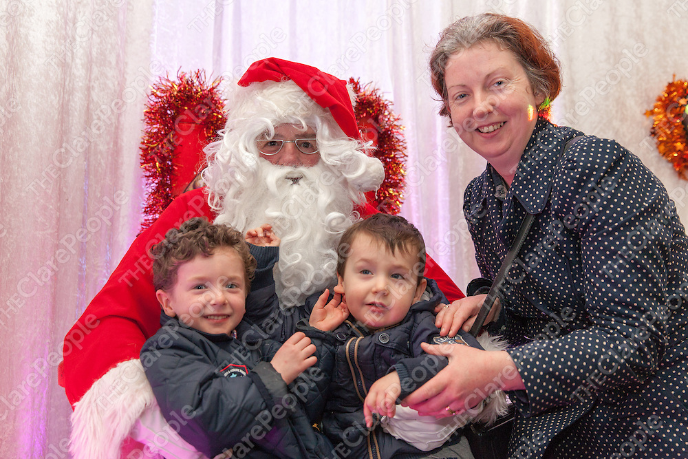 Colin and Dareen Halpin with their mother Anna with Santa at the Skycourt Shopping Centre in Shannon