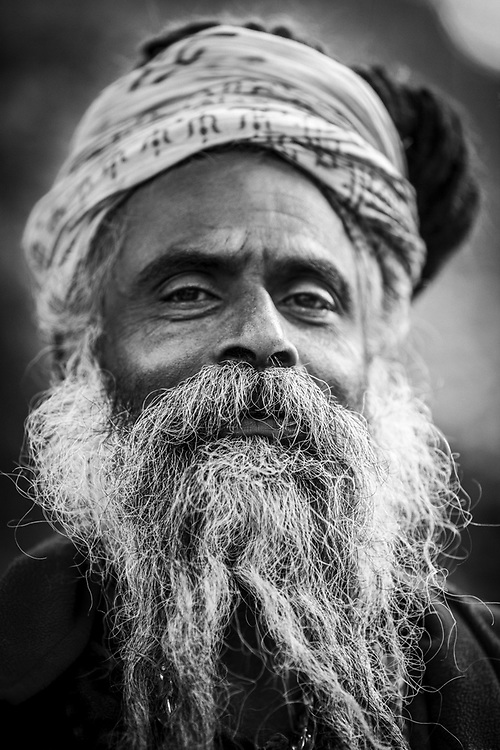 Portrait of Sadhu. Kathmandu, Nepal.<br />