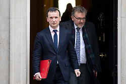 © Licensed to London News Pictures. 30/01/2018. London, UK. Secretary of State for Wales Alun Cairns and Secretary of State for Scotland David Mundell leaving Downing Street after attending a Cabinet meeting this morning. Photo credit : Tom Nicholson/LNP