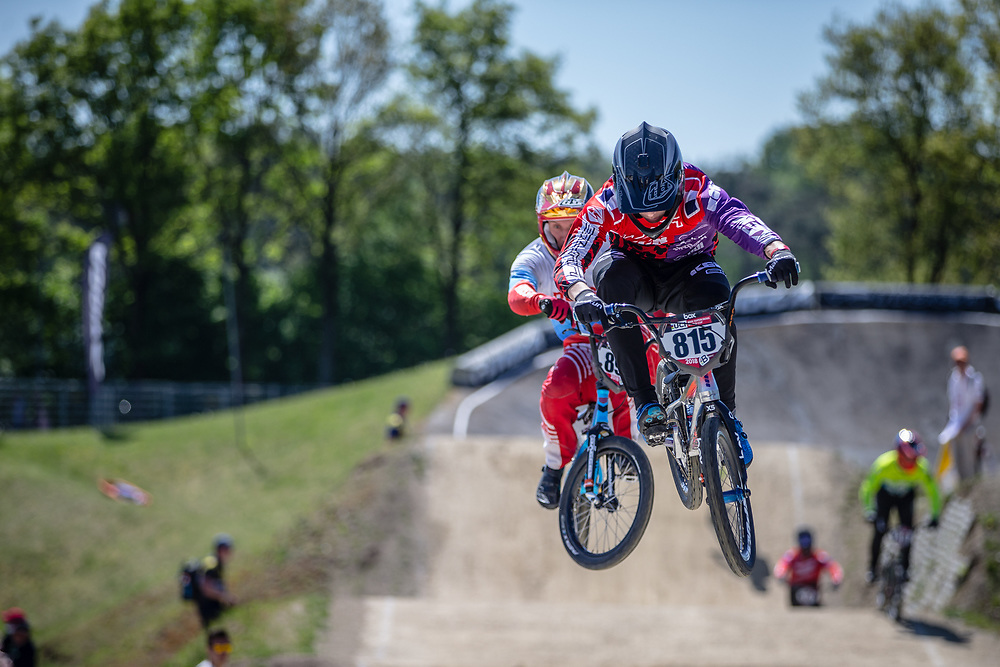 #815 (CLERTE Eddy) FRA at Round 4 of the 2018 UCI BMX Superscross World Cup in Papendal, The Netherlands