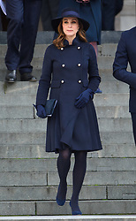 The Duchess of Cambridge attending the Grenfell Tower National Memorial Service, at St Paul's Cathedral in London, which marked the six month anniversary of the Grenfell Tower fire. Picture date: Thursday December 14th, 2017. Photo credit should read: Matt Crossick/ EMPICS Entertainment.