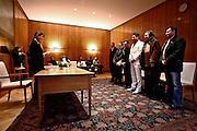 Frankfurt am Main | 08.12.2010..Hochzeit beim Zirkus Barelli, Jan Birk (weisser Anzug, 3.v.l.) geht eine Lebenspartnerschaft mit Christian Walliser (dunkler Anzug, 4.v.l.) ein, die im Roemer in Frankfurt eingetragen wird....©peter-juelich.com..[No Model Release | No Property Release]