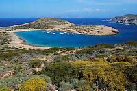 Grece, les Cyclades, ile de Amorgos, plage de Kalotaritissa // Greece, Cyclades islands, Amorgos, Kalotaritissa beach