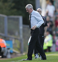 Photo: Lee Earle.<br /> Plymouth Argyle v Norwich City. Coca Cola Championship. 23/09/2006. Norwich manager Nigel Worthington leaves the pitch at the end of the game.