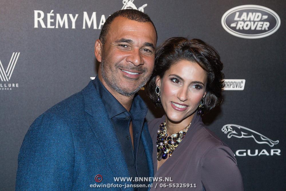 NLD/Amsterdam/20131201 - Vipnight LAF voetbalfair, Ruud Gullit en Kristina Bozilovic