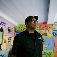 Panamanian Jazz musician, creator and founder of the Panama Jazz Fest, Danilo Perez, tours the building of the old National Music Conservatory of Panama, now turned into The Danilo Perez Foundation where kids go to learn music. Friday, January 16, 2015. Photo by Tito Herrera for The New York Times