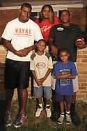 (from left, rear) Terry Talbott, Jr., Natasha White, Terrence Talbott (from left, front) DeMorea Benson, 7; Devoni'ye Benson, 6; Sunday August 12, 2007.