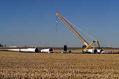 21st Century (modern turbines) Windmills Royalty Free Stock Images