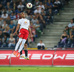 06.08.2014, Red Bull Arena, Salzburg, AUT, UEFA CL Qualifikation, FC Red Bull Salzburg vs Qarabag FK, dritte Runde, Rueckspiel, im Bild Alan Douglas Borges De Carvalho, (FC Red Bull Salzburg, #27) und Rashad Sadygov, (Qarabag FK, #14) //during UEFA Champions League Qualifier second leg 3rd round match between FC Red Bull Salzburg vs Qarabag FK at the Red Bull Arena in Salzburg, Austria on 2014/08/06. EXPA Pictures © 2014, PhotoCredit: EXPA/ Roland Hackl