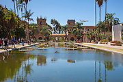 The Casa de Balboa and Reflection Pool of Balboa Park San Diego
