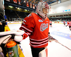 Ken Appleby of the Oshawa Generals represented Team OHL in Game 3 of the 2014 SUBWAY Super Series in Peterborough on Thurs. Nov. 13, 2014. Photo by Aaron Bell/OHL Images