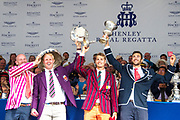 Henley on Thames, England, United Kingdom, 7th July 2019, Henley Royal Regatta, Prize Giving, The Stewards Challenge Cup, Leander Club and Oxford Brookes University, [© Peter SPURRIER/Intersport Image]<br /> <br /> 17:33:52 1919 - 2019, Royal Henley Peace Regatta Centenary,