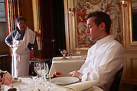 Bernard PACAUD and Matthieu , his son<br /> <br /> Bernard Pacaud is the chef and owner of l'Ambroisie, the three star (Michelin) restaurant in the Place des Vosges, Paris