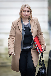 © Licensed to London News Pictures. 07/02/2017. London, UK. Secretary of State for Culture, Media and Sport Karen Bradley arriving at Downing Street for a Cabinet meeting this morning. Photo credit : Tom Nicholson/LNP
