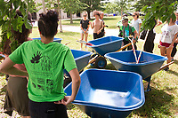 """Volunteers came out Saturday, June 17th, 2017 for It's Your Park Day to help clean up parks in the neighborhood. This event was sponsored by the Jackson Park Advisory Council.<br /> <br /> 7672 – President of the Jackson Park Advisory Council, Louise Mcurry organizes volunteers behind LaRabida Children's Hospital located at 6501 S. Promontory Dr. to lay down mulch paths so that children in wheel chairs can get from the hospital to the lakefront.<br /> <br /> Please 'Like' """"Spencer Bibbs Photography"""" on Facebook.<br /> <br /> Please leave a review for Spencer Bibbs Photography on Yelp.<br /> <br /> All rights to this photo are owned by Spencer Bibbs of Spencer Bibbs Photography and may only be used in any way shape or form, whole or in part with written permission by the owner of the photo, Spencer Bibbs.<br /> <br /> For all of your photography needs, please contact Spencer Bibbs at 773-895-4744. I can also be reached in the following ways:<br /> <br /> Website – www.spbdigitalconcepts.photoshelter.com<br /> <br /> Text - Text """"Spencer Bibbs"""" to 72727<br /> <br /> Email – spencerbibbsphotography@yahoo.com"""