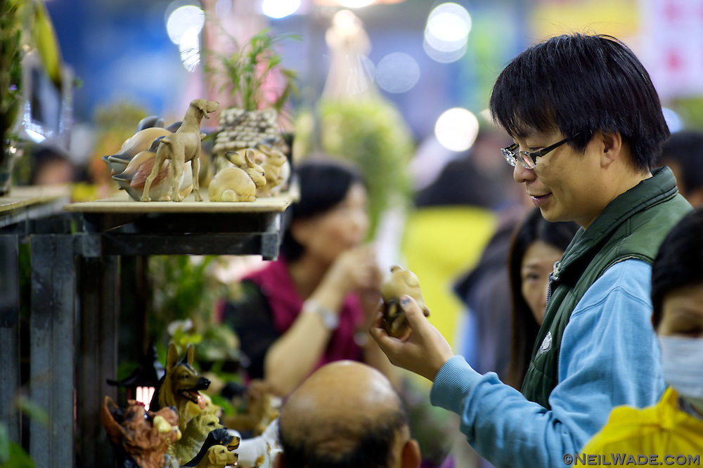 Many other items besides flowers are available at Jianguo Flower Market (??????) in Taipei, Taiwan.