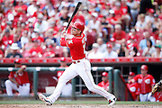 CINCINNATI, OH - JUNE 7: Joey Votto #19 of the Cincinnati Reds bats against the San Diego Padres during the game at Great American Ball Park on June 7, 2015 in Cincinnati, Ohio. The Reds defeated the Padres 4-0. (Photo by Joe Robbins)  Joey Votto