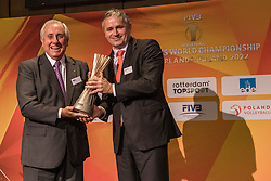 31-01-2019 NED: Kick-off World Championship  Volleybal 2022, Arnhem<br /> Presentation of the kick off World Championship Volleyball held in Netherlands and Poland / Ary S. Graça and Peter Sprenger