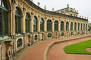 DRESDEN, GERMANY - MAY 22, 2010: Facade of the building in the famous Zwinger palace in Dresden, Germany.