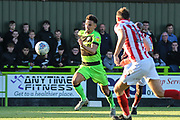 Forest Green Rovers Liam Shephard(2) runs forward into the box during the EFL Sky Bet League 2 match between Forest Green Rovers and Cheltenham Town at the New Lawn, Forest Green, United Kingdom on 20 October 2018.