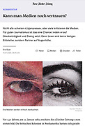editorial article in the German newspaper Neue Zürcher Zeitung with a Oote Boe concept image.