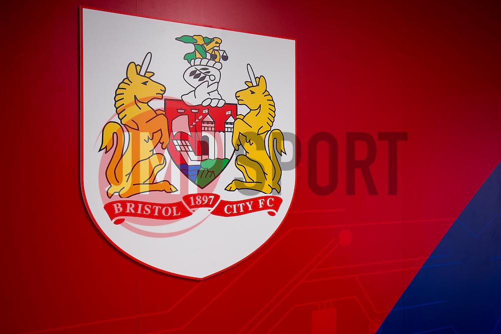 Tunnel branding in the Lansdown Stand at Ashton Gate - Rogan Thomson/JMP - 30/01/2017 - SPORT - Ashton Gate Stadium - Bristol, England - New West Stand Facilities.