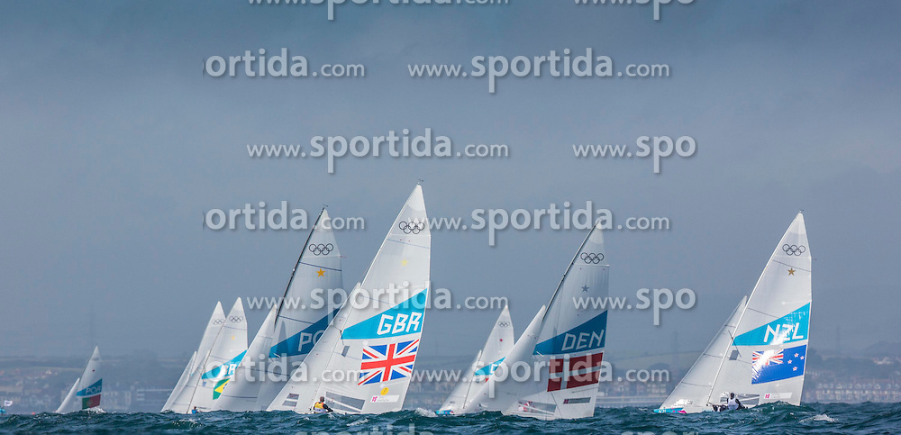 03.08.2012, Bucht von Weymouth, GBR, Olympia 2012, Segeln, im Bild Star class upwind // during Sailing, at the 2012 Summer Olympics at Bay of Weymouth, United Kingdom on 2012/08/03. EXPA Pictures © 2012, PhotoCredit: EXPA/ Daniel Forster ***** ATTENTION for AUT, CRO, GER, FIN, NOR, NED, POL, SLO and SWE ONLY!