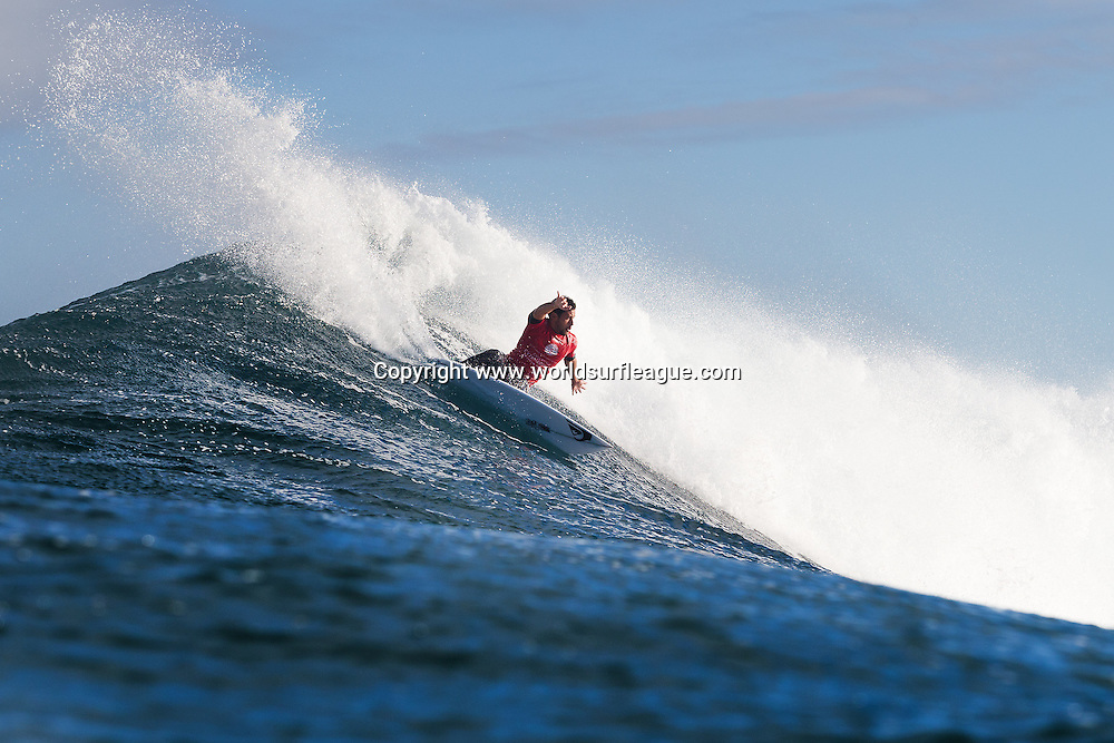 THIS IMAGE CAPTION: MARGARET RIVER, Western Australia (Saturday, April 18, 2015): Jeremy Flores of Capbreton, France (pictured) finished equal 9th in the Drug Aware Margaret River Pro after placing second in his round 5 heat at the main break on Saturday April 18, 2015. <br /> <br /> IMAGE CREDIT: WSL / Cestari<br /> PHOTOGRAPHER: Kelly Cestari<br /> SOCIAL MEDIA TAG: @wsl @kc80<br /> <br /> The images attached or accessed by link within this email (&quot;Images&quot;) are hand-out images from the Association of Surfing Professionals LLC (&quot;World Surf League&quot;). All Images are royalty-free but for editorial use only. No commercial or other rights are granted to the Images in any way. The Images are provided on an &quot;as is&quot; basis and no warranty is provided for use of a particular purpose. Rights to an individual within an Image are not provided. Copyright to the Images is owned by World Surf League. Sale or license of the Images is prohibited. ALL RIGHTS RESERVED.