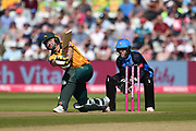 gChris Nash of Notts Outlaws is hit on the pad off the bowling of Moeen Ali during the Vitality T20 Finals Day 2019 match between Notts Outlaws and Worcestershire Rapids at Edgbaston, Birmingham, United Kingdom on 21 September 2019.