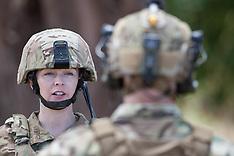 Lora in Army Uniform