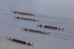 June 13, 2017 - Jili, Jili, China - Jilin, CHINA-June 13 2017: (EDITORIAL USE ONLY. CHINA OUT)..The dragon boat race of minority ethnic groups is launched in Jilin, northeast China, June 13th, 2017. (Credit Image: © SIPA Asia via ZUMA Wire)