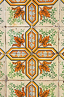 original XVIII century ceramic on the wall  of the historic center of the city of sao luis of maranhao in brazil