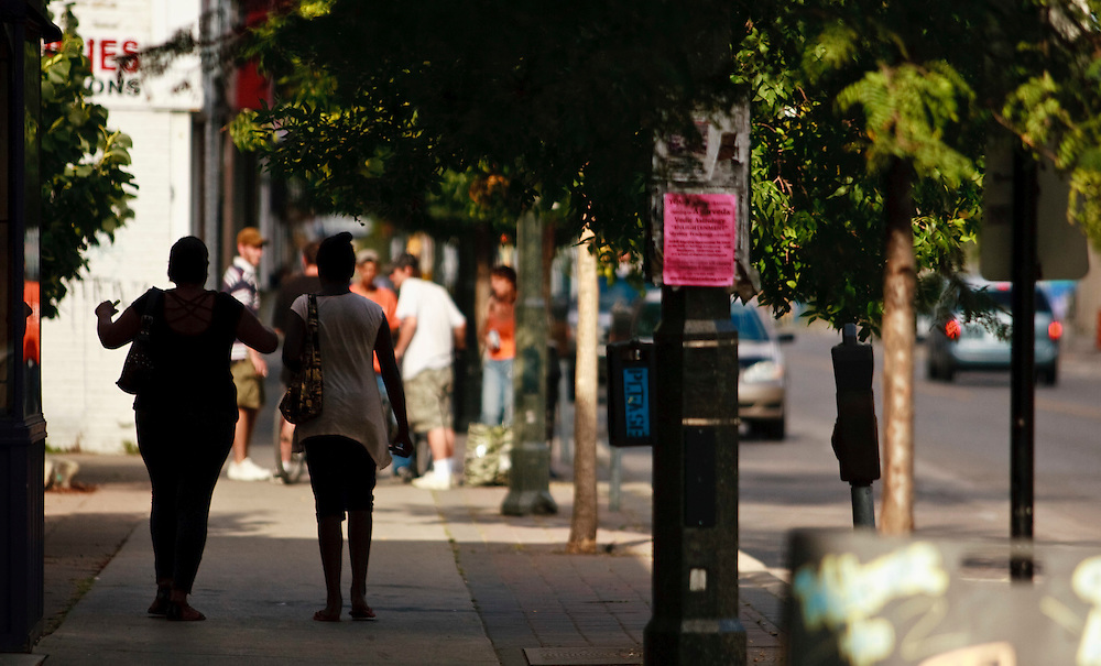 London, Ontario ---10-08-18--- London's Dundas Street East, seen here August, 18, 2010, is trying to revitalize itself but still struggles with a drug culture.<br /> GEOFF ROBINS The Globe and Mail