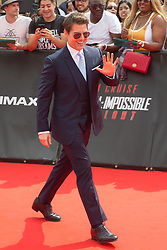 Tom Cruise on red carpet of the Mission Impossible - Fall out world Premiere in Paris, France on July 12, 2018. Photo by Nasser Berzane/ABACAPRESS.COM