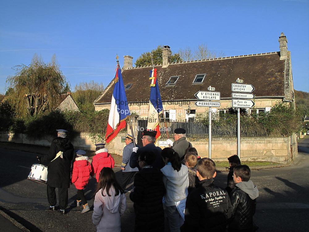 France, Hauts-de-france,, Oise (60), Chelles, cérémonie du 11 novembre // FRance, Hauts-de-France (ex Picardy), Oise county, Chelles village, 11 novembre ceremony France, Hauts-de-France, Oise