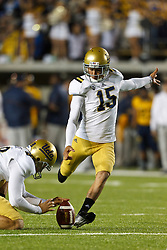 BERKELEY, CA - OCTOBER 06: Kicker Ka'imi Fairbairn #15 of the UCLA Bruins kicks an extra point against the California Golden Bears during the first quarter at California Memorial Stadium on October 6, 2012 in Berkeley, California. The California Golden Bears defeated the UCLA Bruins 43-17. (Photo by Jason O. Watson/Getty Images) *** Local Caption *** Ka'imi Fairbairn
