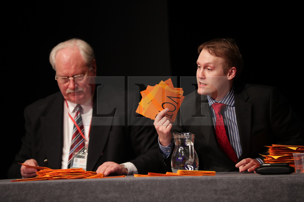 © Licensed to London News Pictures . 17/02/2018. Birmingham, UK. Members vote on whether to retain or dismiss Bolton as leader . The NEC of UKIP meet to decide leader Henry Bolton's fate as leader following a racism row over his girlfriend Jo Marney and controversy over his claimed qualifications whilst serving in the military . Photo credit: Joel Goodman/LNP